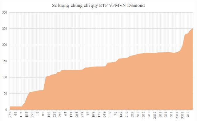 Dòng vốn nghìn tỷ đồng đổ vào VFMVN Diamond - Ảnh 1.