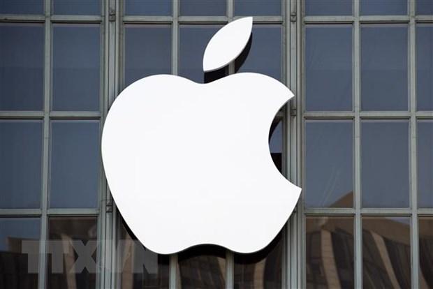 Biểu tượng Apple tại San Francisco, California, Mỹ. Ảnh: TTXVN.