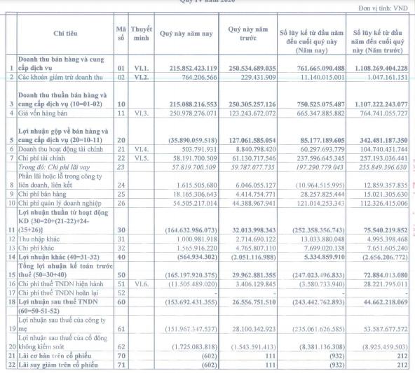 Chi phí tăng cao, Tasco (HUT) lỗ 243 tỷ đồng cả năm - Ảnh 1.