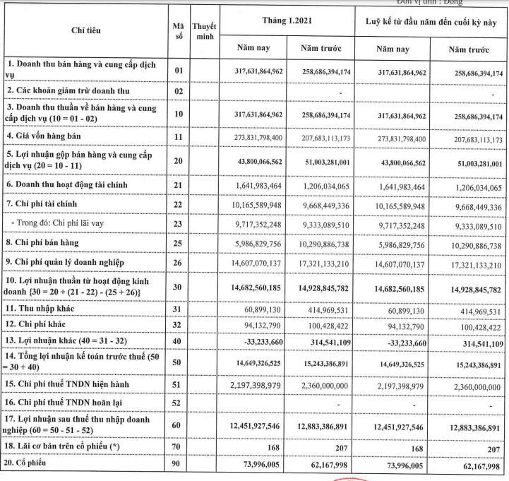 TNG lãi hơn 12 tỷ đồng trong tháng 1/2021 - Ảnh 1.