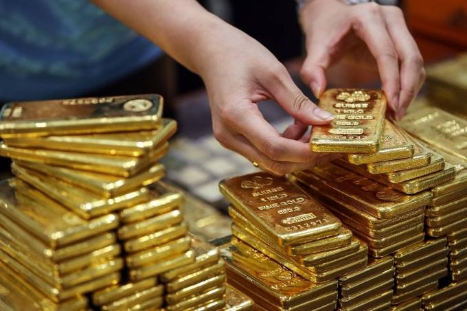 Giá vàng SJC phục hồi mạnh, tăng 200 nghìn đồng mỗi lượng. Ảnh minh họa