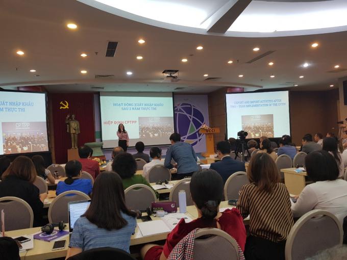 Toàn cảnh Hội thảo Hai năm thực thi Hiệp định CTCPP tại Việt Nam: Đánh giá từ góc nhìn doanh nghiệp.