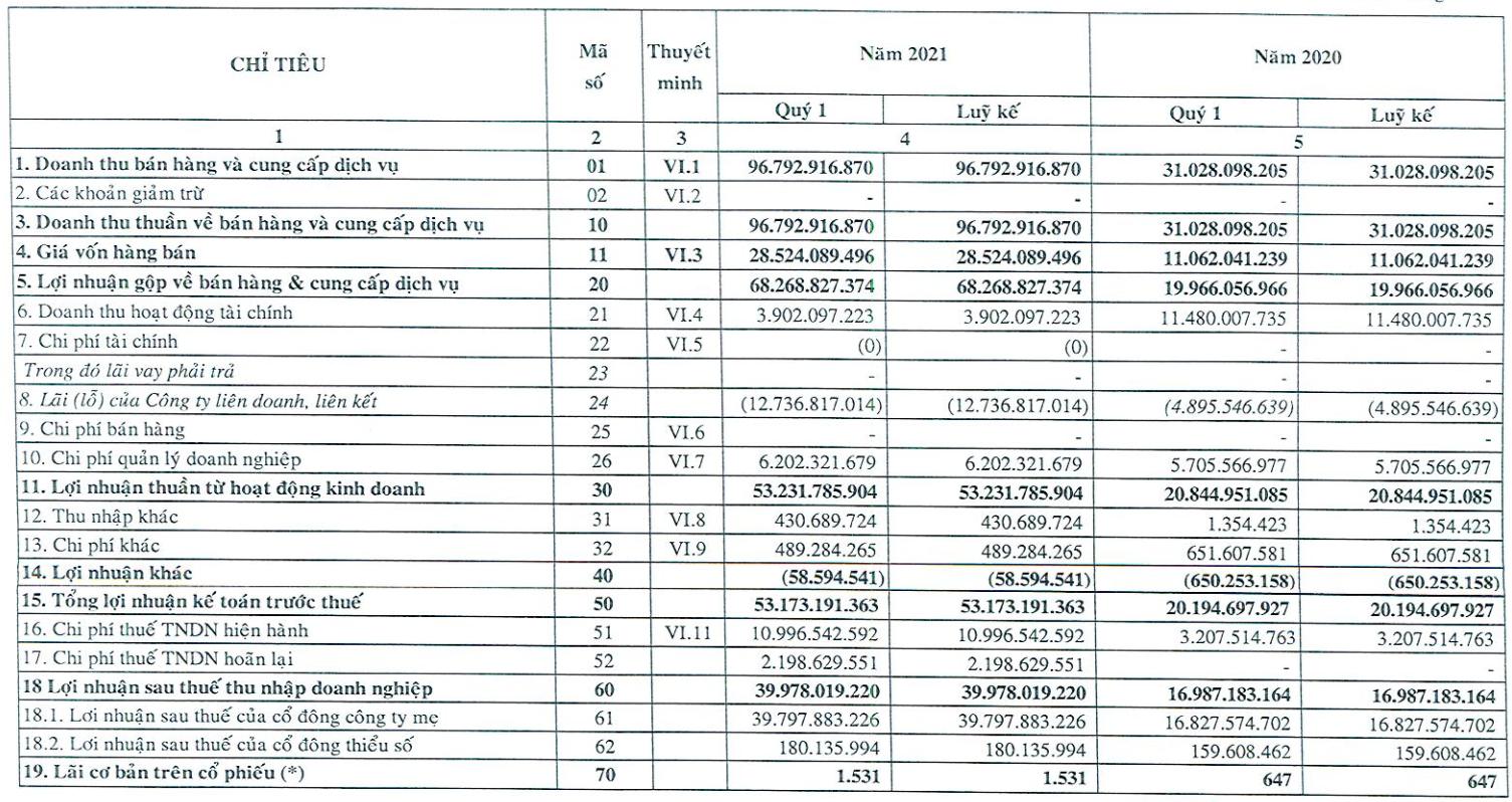 KCN Tín Nghĩa (TIP): Lợi nhuận Q1/2021 trưởng 135%, lên kế hoạch tăng vốn lên 1.000 tỷ đồng để phát triển dự án trong nhiều năm tới - Ảnh 1.