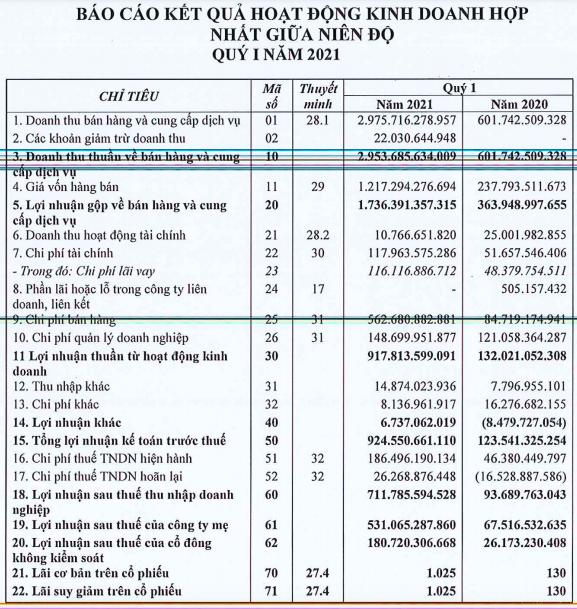 Đất Xanh (DXG): Lãi ròng quý 1/2021 ghi nhận đúng kế hoạch với 531 tỷ đồng, cao gấp 8 lần cùng kỳ - Ảnh 2.