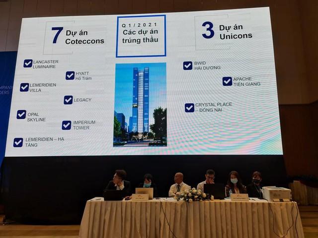 ĐHĐCĐ Coteccons (CTD): Lợi nhuận quý 1 giảm hơn nửa xuống còn 54,5 tỷ đồng, VLXD tăng giá không phải mối lo ngại quan trọng nhất - Ảnh 3.