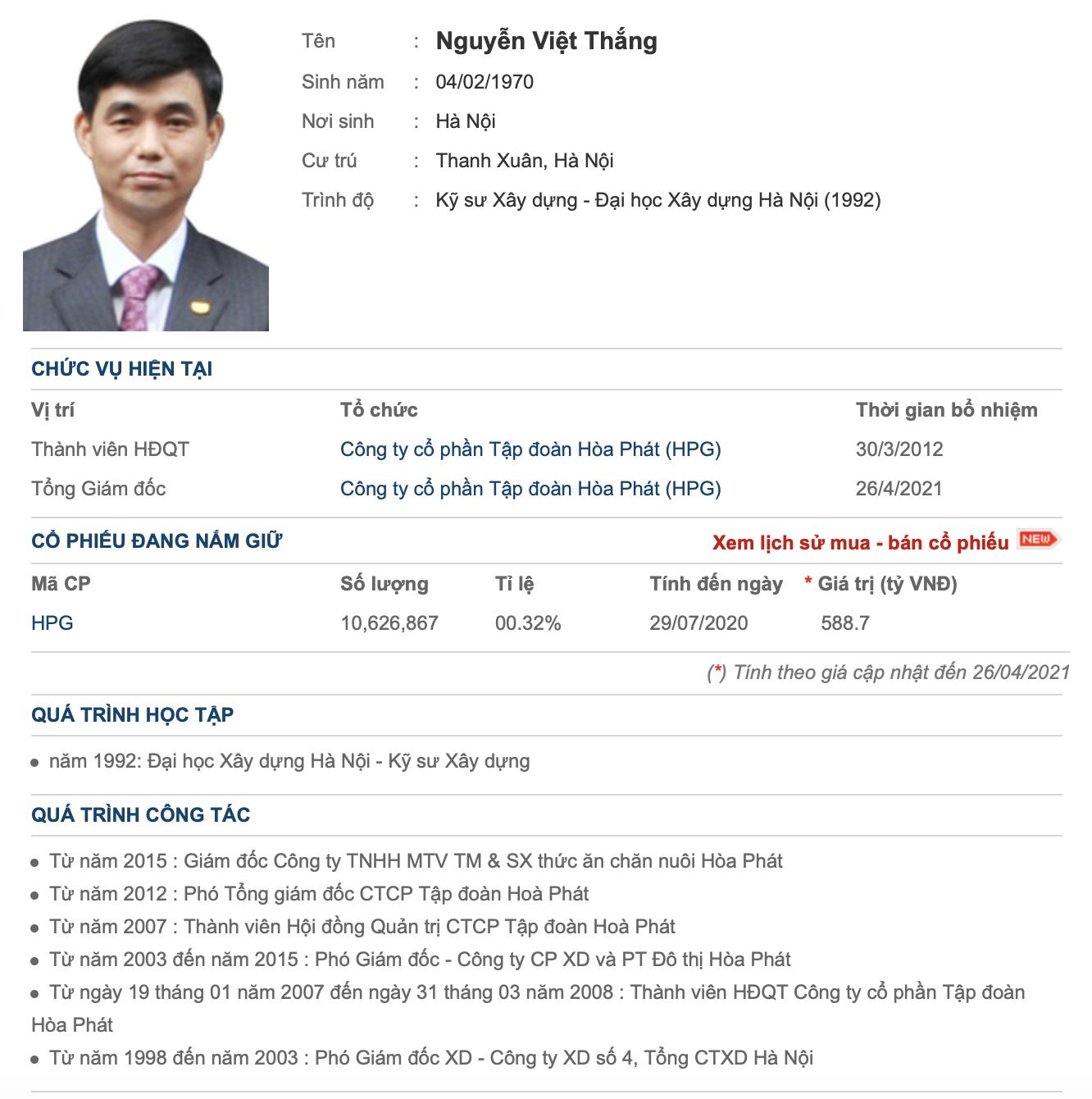 Ông Nguyễn Việt Thắng thay ông Trần Tuấn Dương làm Tổng giám đốc Hoà Phát: Thời điểm F2 chín muồi - Ảnh 2.