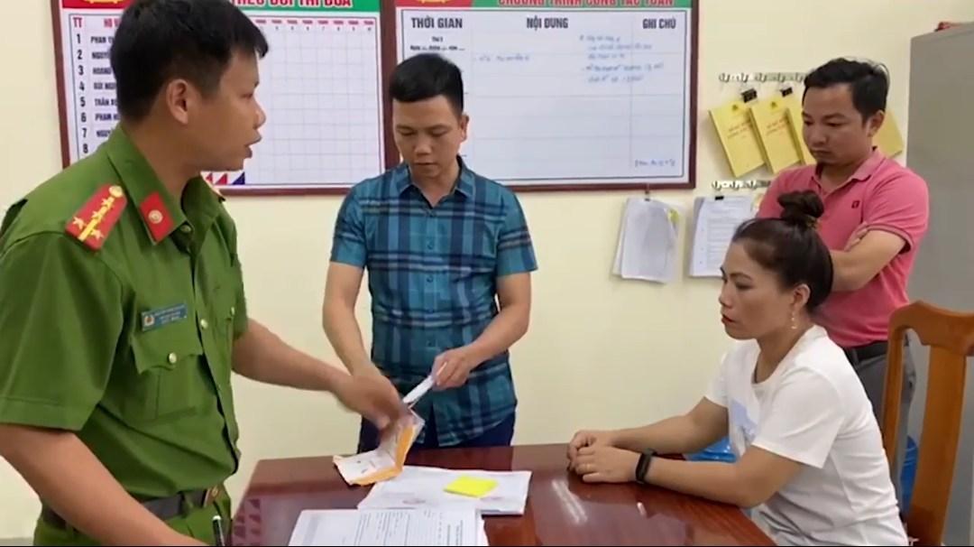 Cơ quan Công an làm rõ hành vilừa đảo chiếm đoạt tài sản, làm giả tài liệu, con dấu của cơ quan, tổ chức đối với Phạm Thị Thu Phương.