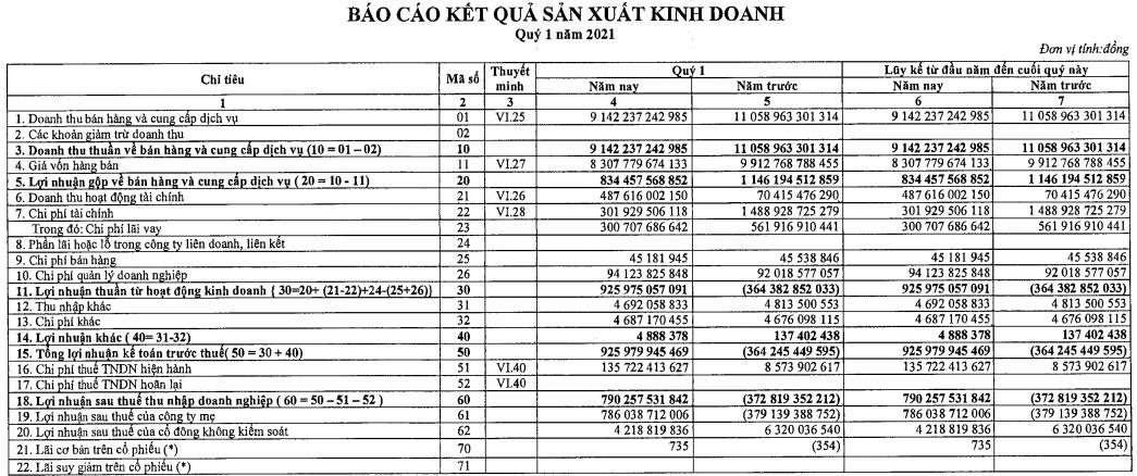 EVNGenco 3 (PGV): Ghi nhận chênh lệch tỷ giá, lãi ròng quý 1/2021 đột biến lên 786 tỷ đồng - Ảnh 1.