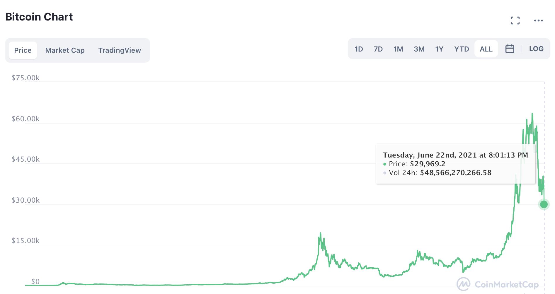 Bitcoin đỏ lửa, trượt khỏi ngưỡng quan trọng 30.000 USD - Ảnh 1.