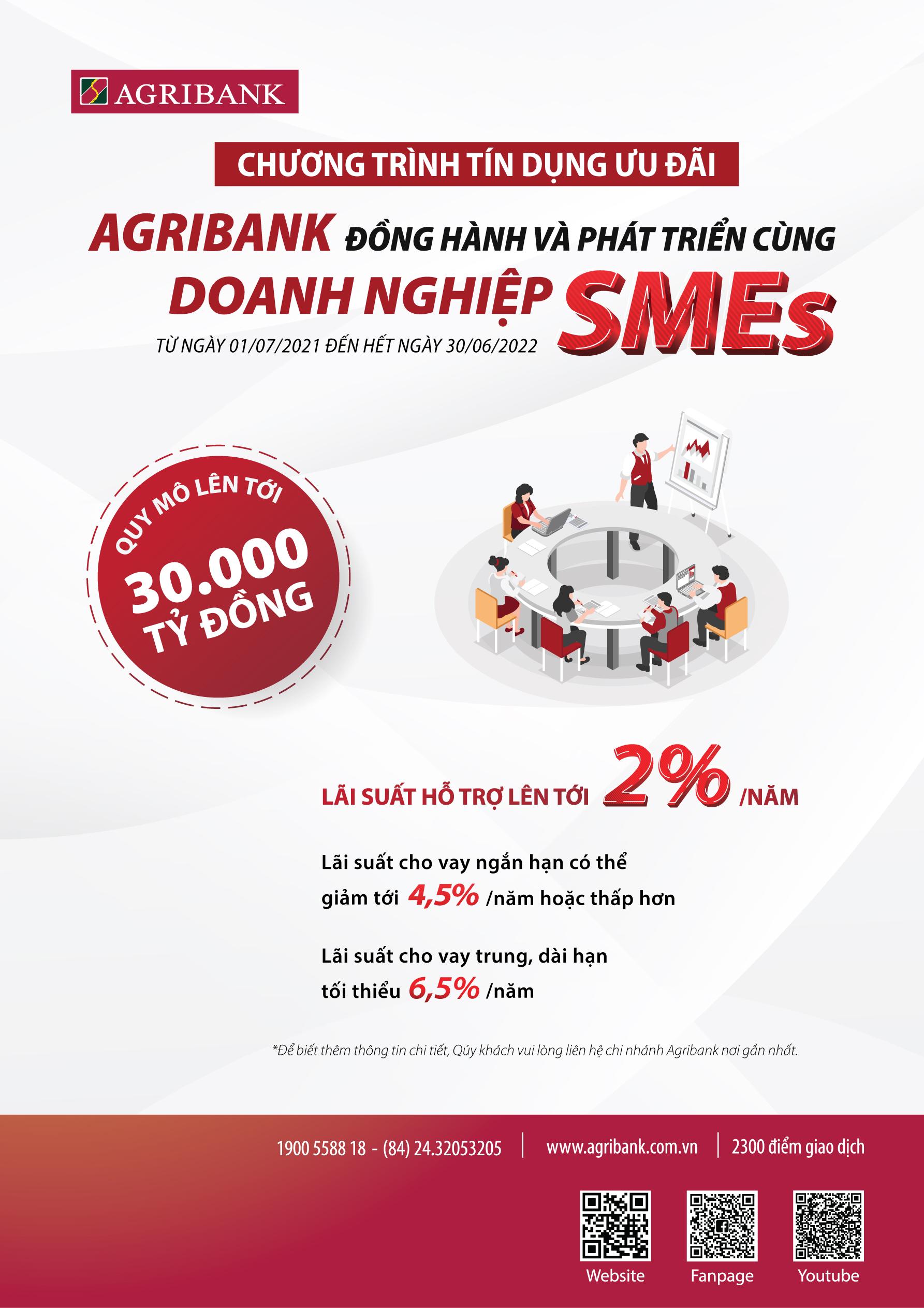 Agribank tiếp tục dành 30.000 tỷ đồng để đồng hành và phát triển cùng doanh nghiệp SMEs - Ảnh 1