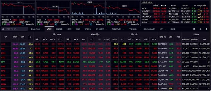 VN-Index chưa thể ngừng giảm trong ngắn hạn - 1