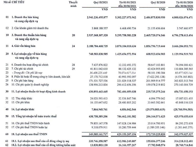 Mảng BĐS Khu công nghiệp tạo điểm sáng, Viglacera (VGC) báo lãi ròng quý 2 gần 350 tỷ đồng, gấp đôi so với cùng kỳ - Ảnh 1.