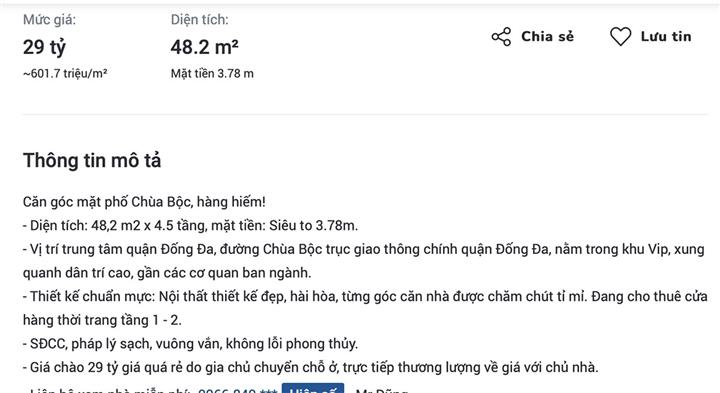 Hà Nội: Giá nhà mặt phố Chùa Bộc tăng dựng đứng sau tin sắp được giải tỏa - 1