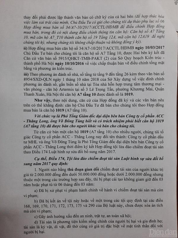 Chủ đầu tư Artemis Lê Trọng Tấn bị tố bán một căn hộ cho nhiều người - Ảnh 1.